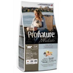 Сухой корм для котов Pronature Holistic (Пронатюр Холистик) с атлантическим лососем и коричневым рисом, 2,72