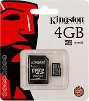 Флешка Kingston micro SD оригинал 4 Гб