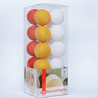 Гирлянда Cottonballlights 20 шаров Christmas