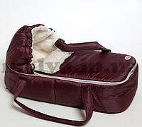 Сумка-переноска люлька  для новорожденных, зимняя, фото 1