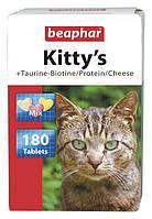 Beaphar Kitty's Mix / Витамины для взрослых кошек / 180 таб