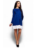 Платье с расклешенным низом воланом  M, Электрик
