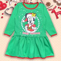 Платье детское для девочки теплое с начесом Минни
