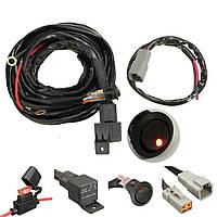 40A Реле 300 см Жгут проводов Набор ON OFF Переключатель для LED Spot Lightts Work Fog Light