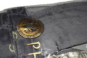 Махровый длинный мужской халат € серый, фото 3