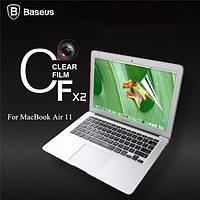 Baseus 2 х ультра тонкий прозрачный экран фильма ясно протектор гвардии чехол для Apple MacBook Air 11
