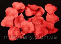 Искусственные лепестки роз красные 50 г/упак.