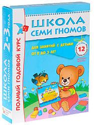 Полный годовой курс. Для занятий с детьми от 2 до 3 лет (комплект из 12 книг) Школа Семи Гномов