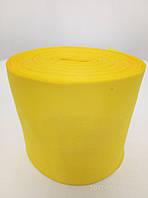 Лента желтая атласная