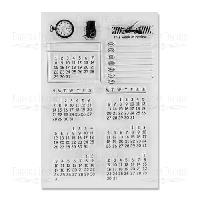 """Набор силиконовых штампов """"Календарь"""", 12 штук"""