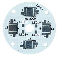 Печатная плата KEY-50X4 MPCB 4 світлодіода 3535 d=46мм 2293