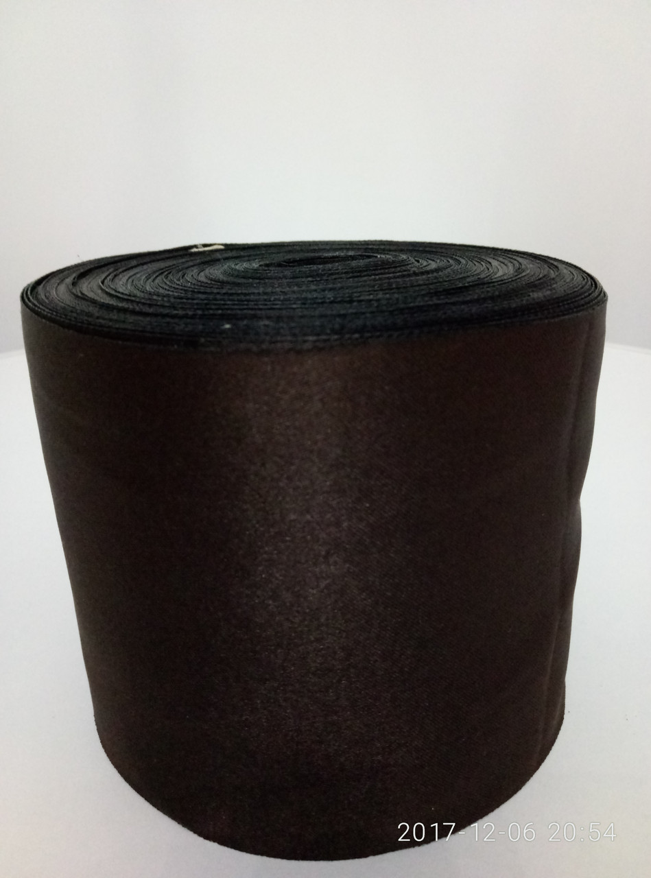 Лента коричневая атласная