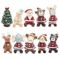Прекрасная рождественская свадьба художественное оформление Санты животных милая обстановка внутреннего декора подарка смолы