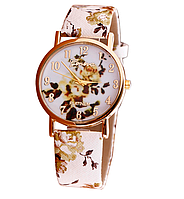 Часы наручные женские с цветочным принтом код 186