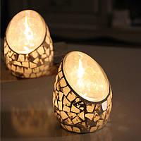 Кустарная мозаика Стеклянная свеча Палка Абрикосовая подставка для свечей Candelabra Home Свадебное Decor