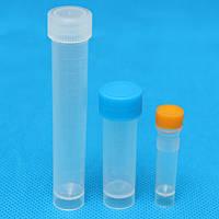 10 штук дипломированная пластмасса cryovial криогенная пробирка пузырька сам стоящий с кепкой 1.5/5/10ml