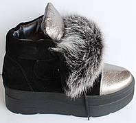 Ботинки зимние замшевые с мехом, ботинки женские молодежные замша от производителя модель Т1519-3, фото 1