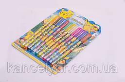 Набор ручек гелевых с блеском, 12 цветов