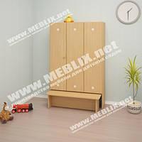 Шкаф детский 3-х секц.с лавкой (920*300*1400h)