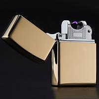 Зажигалка USB подарочная золото