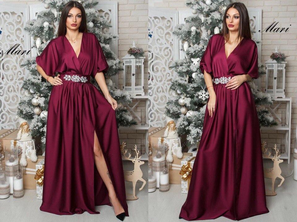 7c3742a4cb4 Великолепное вечернее женское платье в пол (шелк