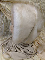Зимняя норковая косынка цвет жемчуг