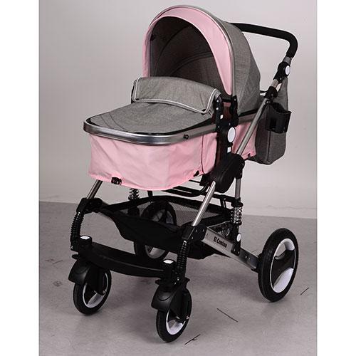 Коляска детская универсальная от рождения EL CAMINO ME 1006-11 серо-розовая - Интернет магазин  ТОРГОВАЯ ЛАВКА в Черкассах