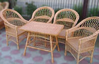 Набор плетеной мебели