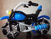 Мотоцикл из воздушных шариков, длина ок.1,5 м