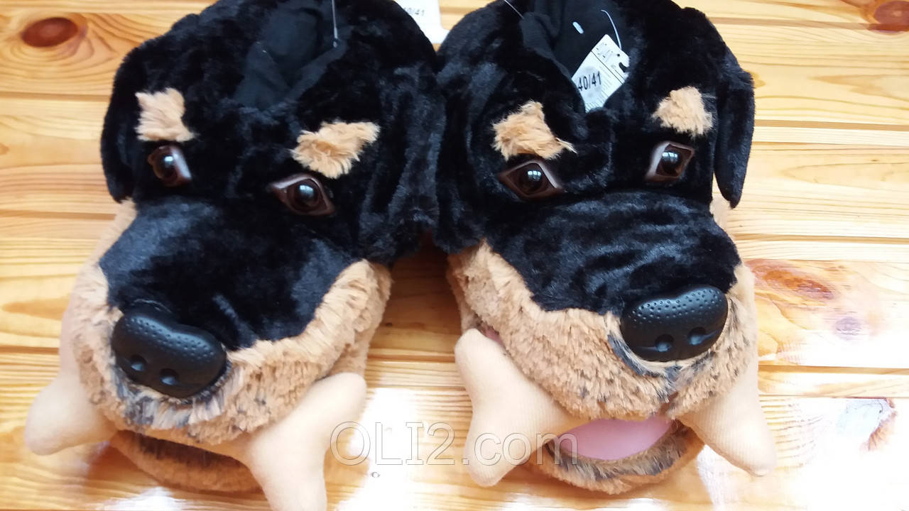 Тапочки тапки домашние мужские прикольные игрушки пес собака