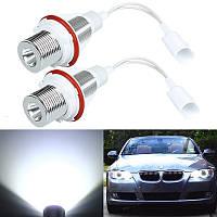 7W белый LED ангел глаз гало кольцо габаритный фонарь для BMW E39 E53 E60 E61