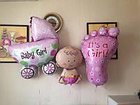 Для девочек и мальчиков на выписку из роддома тематические фольгированные шары