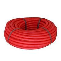 Труба ПНД гибкая гофр. д.25мм усиленная с протяжкой красный. цвет
