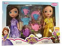 Кукла  Sofia  YG1609-A2  с сестрой Эмбер,  с посудкой,  в коробке