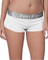 Трусы женские шортики боксеры Calvin Klein белые