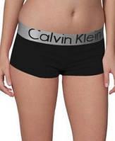 Трусы женские шортики боксеры Calvin Klein черные