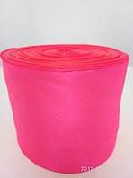 Лента ярко-розовая атласная
