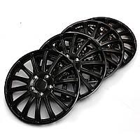 Пластмассовый универсальный набор 14-дюймовых черных автомобильных колпаков колес спортивных состязаний покрывает заглавные буквы центр