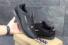 Мужские кроссовки Reebok,плотный текстиль,черные, фото 3