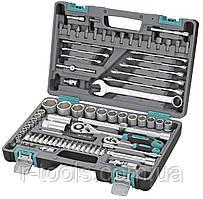 Набор инструментов 1/2 1/4 CrV пластиковый кейс 82 предметов STELS 14105