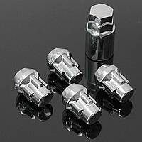 1 комплект замок легкосплавные колесные диски противоугонные гайки болты с ключом 60 градусов выявляется 12x1.5mm
