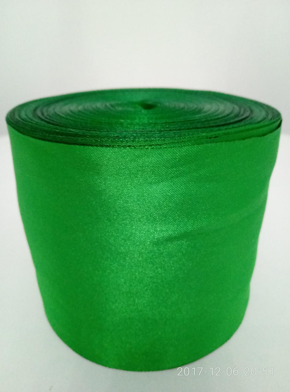 Лента зеленая атласная