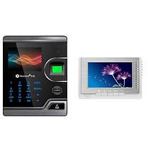 Сенсорный экран 2.8 дюймов realand m100 визуальное биометрическое дверное управление доступом карты отпечатка пальца с видео интеркомом 1TopShop, фото 2