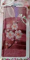 Махровое полотенце в подарочной упаковке 90*140 см TWO Dolphins, Турция 0165