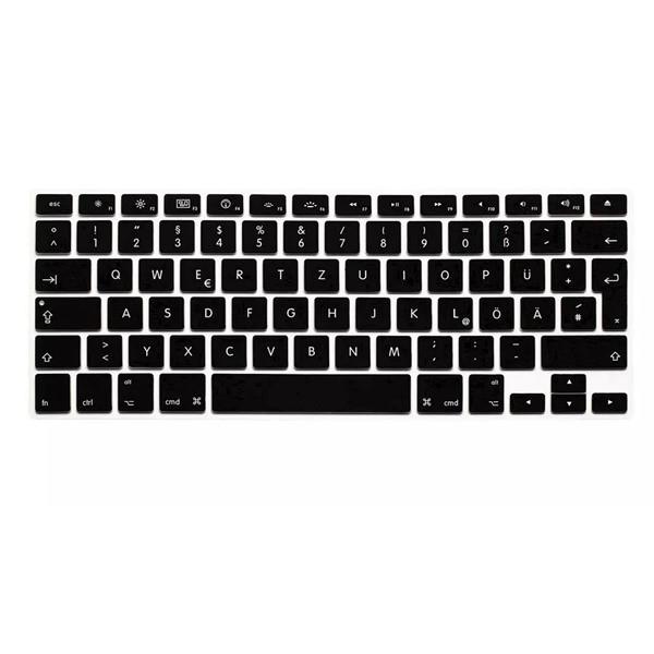 Прозрачная красочная клавиатура силикона защитный фильм для европейского немца macbook13.3 15.4 вариантов 1TopShop