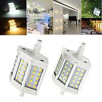 R7s LED лампочка с регулируемой яркостью освещения 5w smd 2835 30 400-450lm белоснежная / теплая белая лампа света зерна ac 85-265v