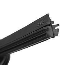 Универсальный 24-дюймовый 6-миллиметровый черный Силиконовый Щетка стеклоочистителя без рамки для Авто Bus Wind Shield 1TopShop, фото 3