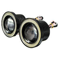 Радио управляет 3 дюймами LED rgb цветные противотуманные фары белый глазной кольцевой автомобильный свет ангела - 1TopShop
