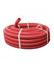 Гофрированная труба морозостойкая усиленная 750Н с протяжкой, красный цвет