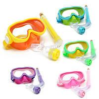 Дети профессиональные силиконовые дайвинг очки очки комплект маска плавание подводное плавание подводного плавания дыхание ванна